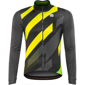 Sportful Volt Thermal LS Jersey Men black/anthracite/yellow fluo